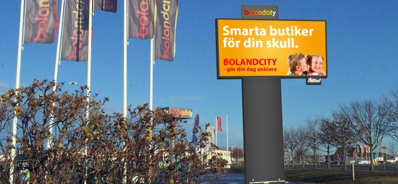 boland city reklamskärm LED